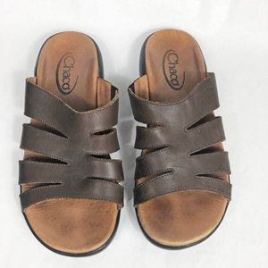 Chaco Frieda Slide Leather Sandal 10